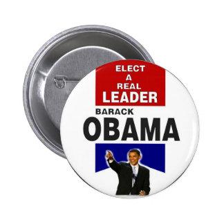 Obama Leader Ribbon Button