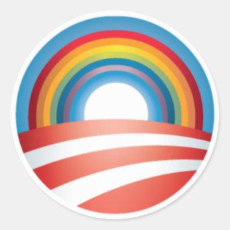 Obama LGBT Round Sticker
