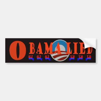 Obama Lied Car Bumper Sticker