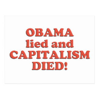 Obama LIED! Postcard