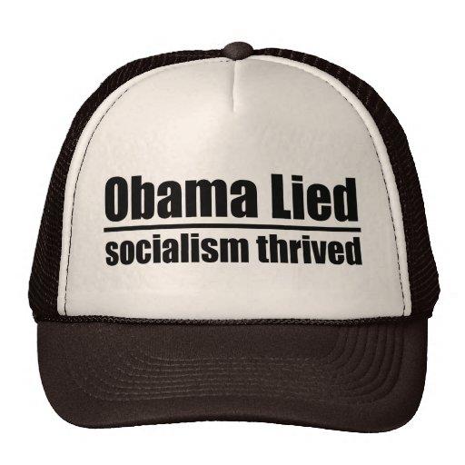 Obama Lied, Socialism Thrived Mesh Hats
