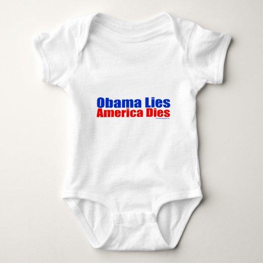 OBAMA LIES AMERICA DIES BABY BODYSUIT