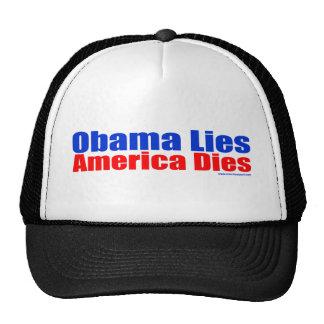 OBAMA LIES AMERICA DIES HATS
