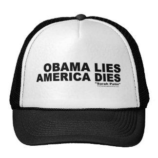 Obama Lies-America Dies Mesh Hats