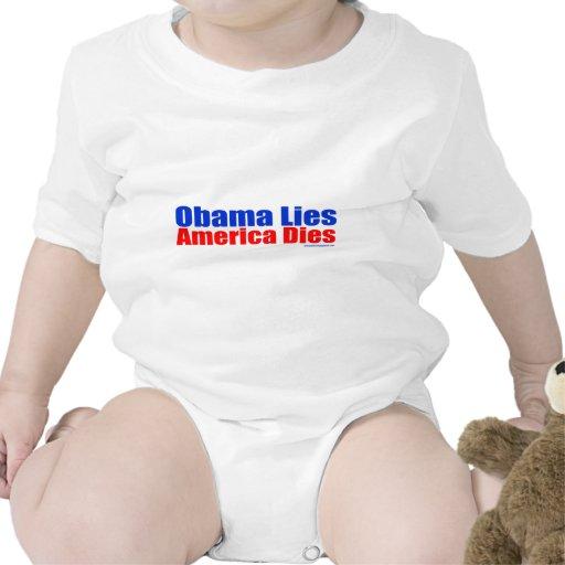 OBAMA LIES AMERICA DIES T-SHIRTS