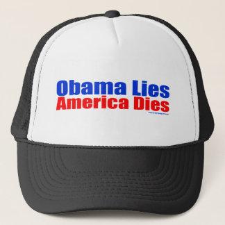 OBAMA LIES AMERICA DIES TRUCKER HAT