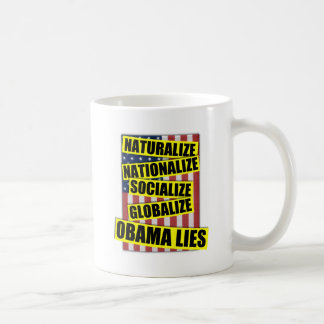 Obama Lies Basic White Mug