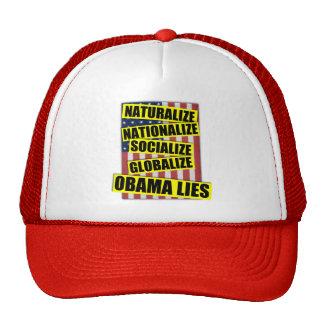 Obama Lies Mesh Hats