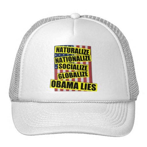 Obama Lies Hats