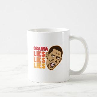 Obama Lies Lies Lies Basic White Mug