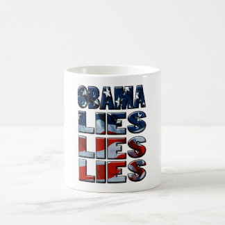Obama Lies Lies Lies Basic White Mug