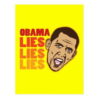 Obama Lies Lies Lies Post Cards