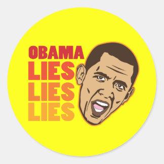Obama Lies Lies Lies Stickers