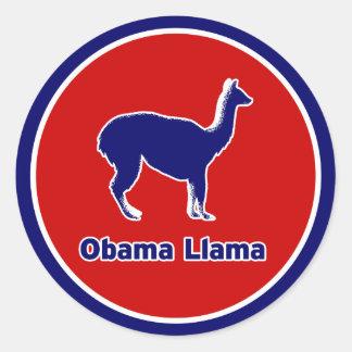Obama Llama Blue Outline Sticker