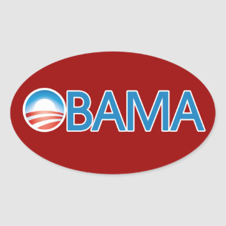 Obama Logo Oval Sticker