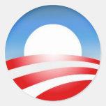 Obama Logo Round Sticker