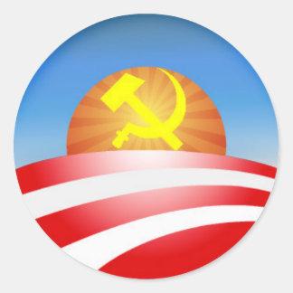 obama logo - soviet classic round sticker