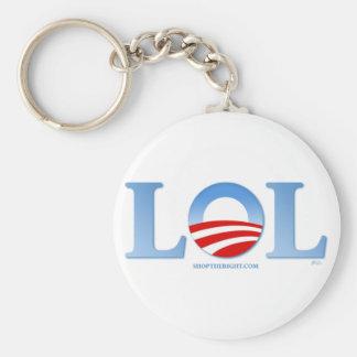 Obama LOL Basic Round Button Key Ring