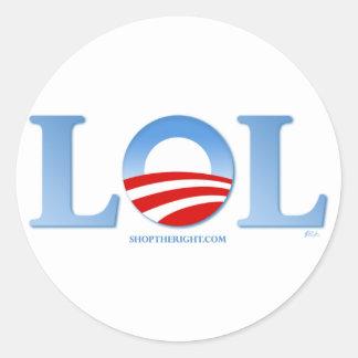Obama LOL Classic Round Sticker