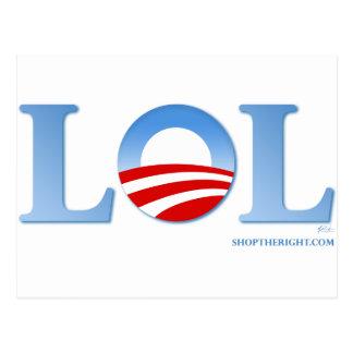 Obama LOL Postcard