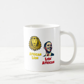 Obama Lyin' African/ African Lion Basic White Mug