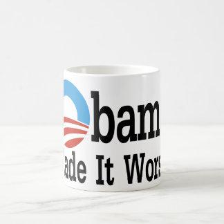 Obama Made It Worse Basic White Mug