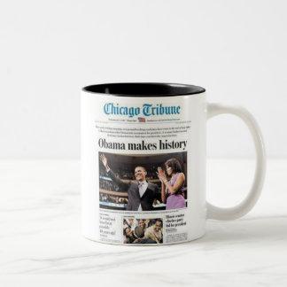 Obama Makes History! Two-Tone Mug