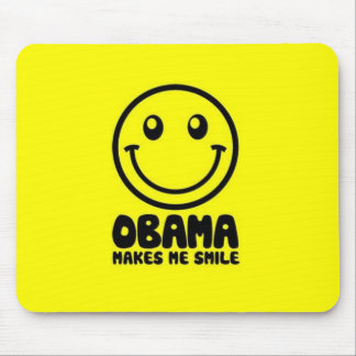 OBAMA Makes Me Smile Mouse Pad