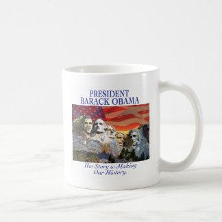 Obama Making History Mount Rushmore Mug