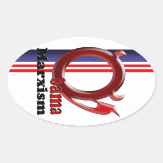 Obama Marxism Oval Sticker