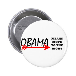 OBAMA Means Move To The Right The MUSEUM Zazzle Buttons