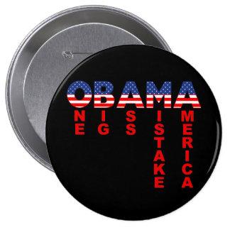 Obama Mistake 1 10 Cm Round Badge
