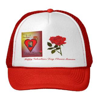 Obama Momma Happy Valentines Cap