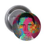 Obama Mosaic-style Button