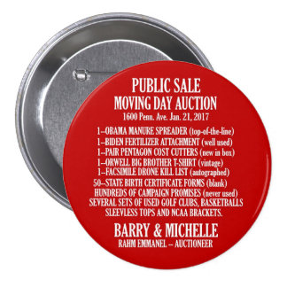 Obama Moving Day Sale 7.5 Cm Round Badge