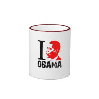 Obama Mug-Drink your support Ringer Mug