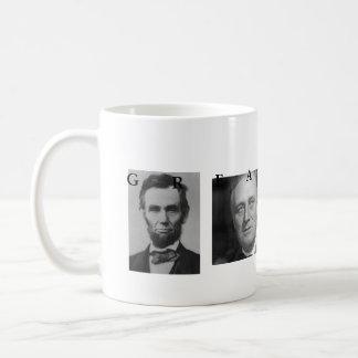 OBAMA MUG: GREATNESS Lincoln FDR JFK Obama Basic White Mug