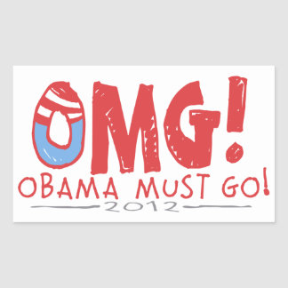 Obama Must Go 2012 Rectangular Sticker