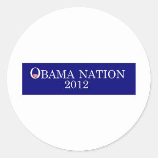 Obama Nation 2012 bumper sticker