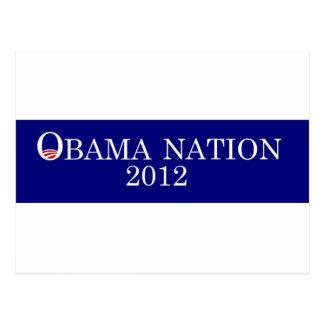 Obama Nation 2012 bumper sticker Postcard