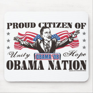 Obama Nation Cartoon Mousepad