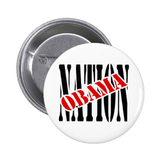 Obama Nation With Overlap and Outline 6 Cm Round Badge
