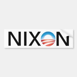 Obama=Nixon Car Bumper Sticker