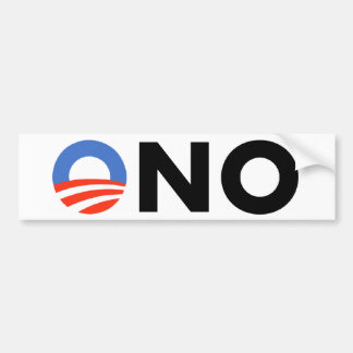 Obama No Bama Nobama Oh No Obama Bumper Sticker