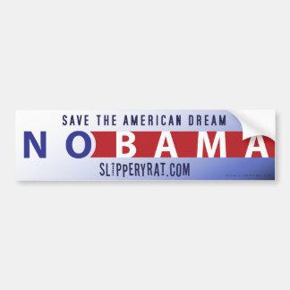 """Obama """"Nobama"""" Bumper Sticker Car Bumper Sticker"""