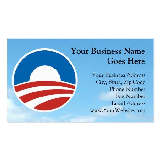 Obama-O Logo with Blue Business Card Template