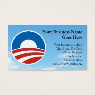 Obama-O Logo with Blue Business Card
