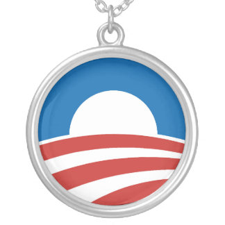 Obama-O Logo with Blue Necklace