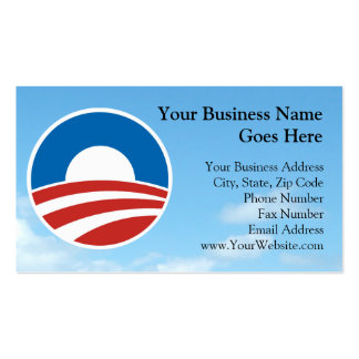 Obama-O Logo with Blue Pack Of Standard Business Cards