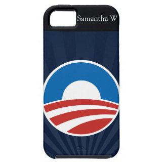 Obama-O Logo with Blue Tough iPhone 5 Case